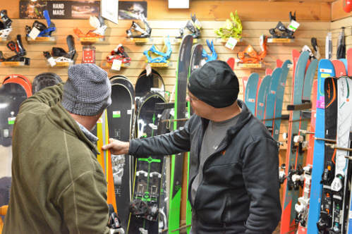 Try your skis then if you're happy buy them at Abominable Sports, Banff, Alberta.