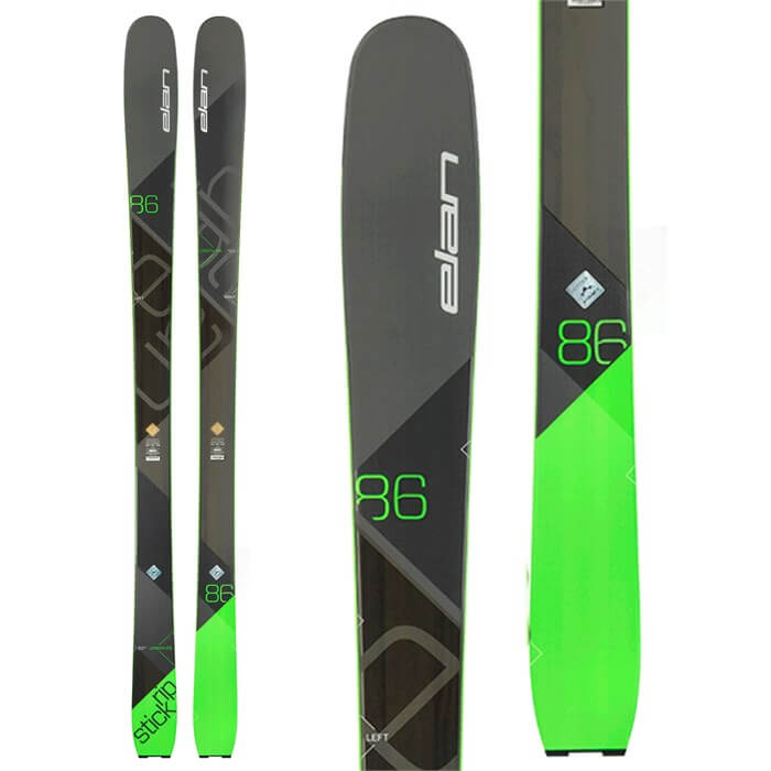 Rent the Elan RipStick 86 Skis in Banff, Alberta.